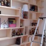 Bibliothèque bois massif sur mesure