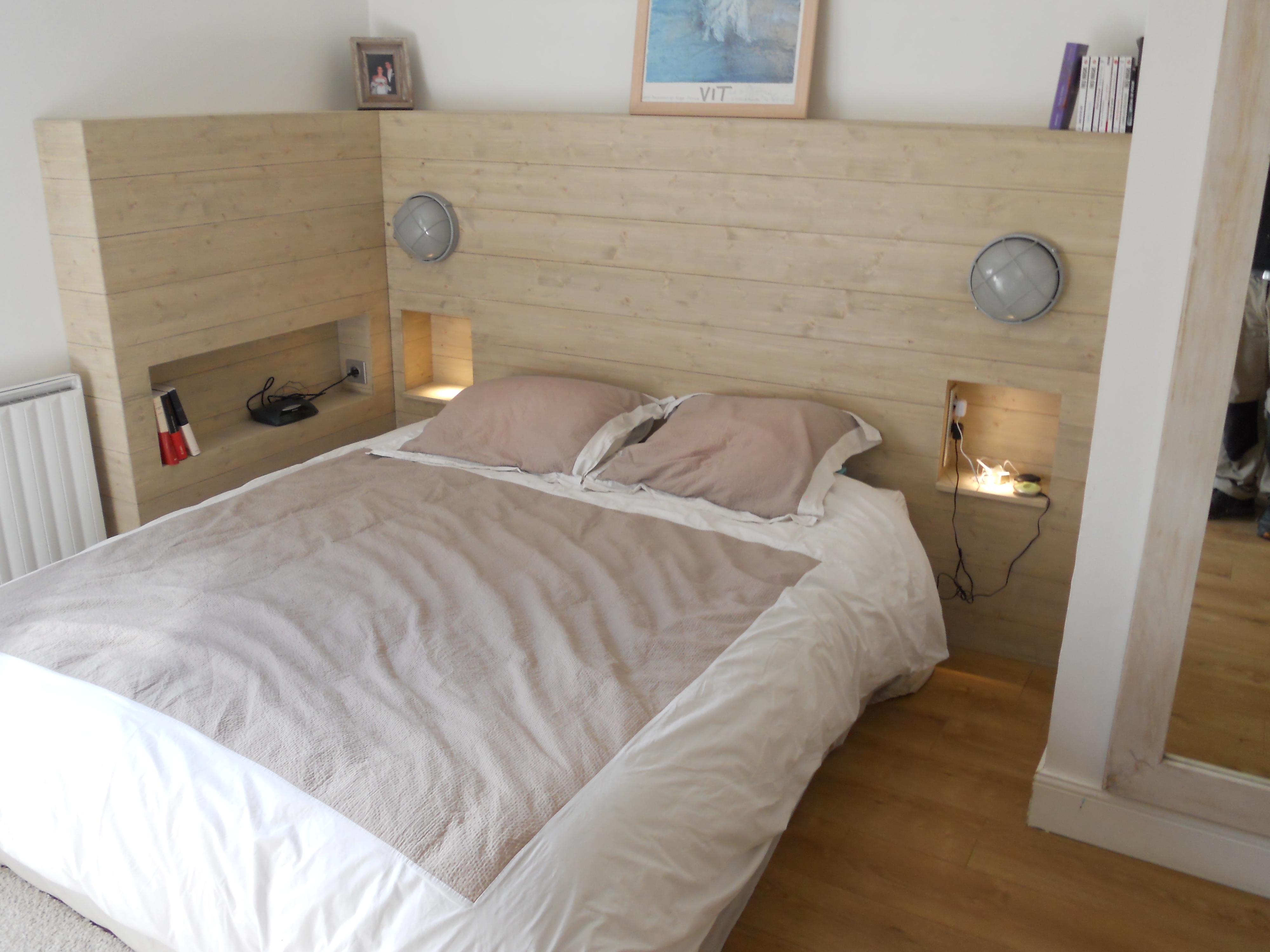 Fabriquer Un Lit En Bois tête de lit style bois flotté – brodie agencement